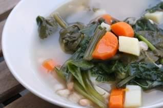Receta vegetariana de Caldo Gallego