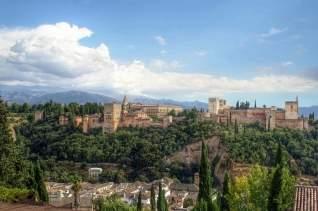 Visitando la Alhambra en el perfecto día de otoño
