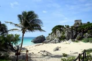 Mirando hacia atrás en Playa del Carmen