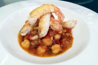 Receta de camarones españoles con garbanzos & # 8211; Blog de recetas españolas