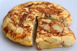 Tortilla Española Con Receta De Jamón Y Guisantes (Tortilla De Guisantes Con Jamón)