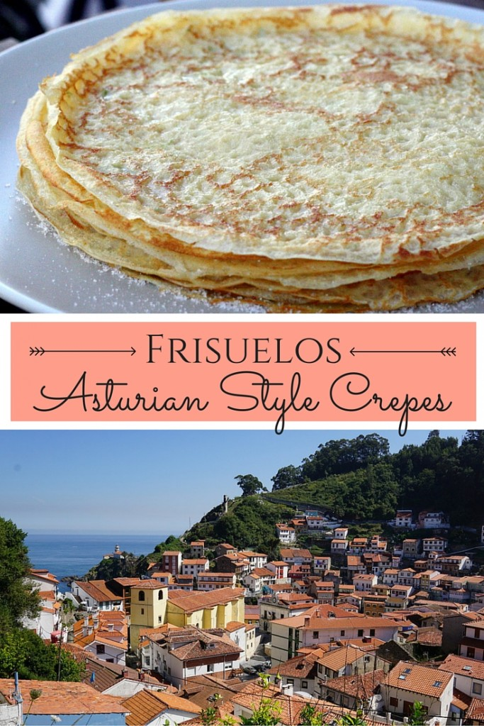 ¡Estos sabrosos crepes de estilo asturiano del norte de España son simples y deliciosos! Llénalos con crema de pastelería, como es tradición, ¡o pégales un poco de chocolate!
