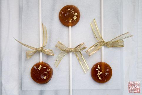 Trío de caramelos Fleur de Sel Lollipops