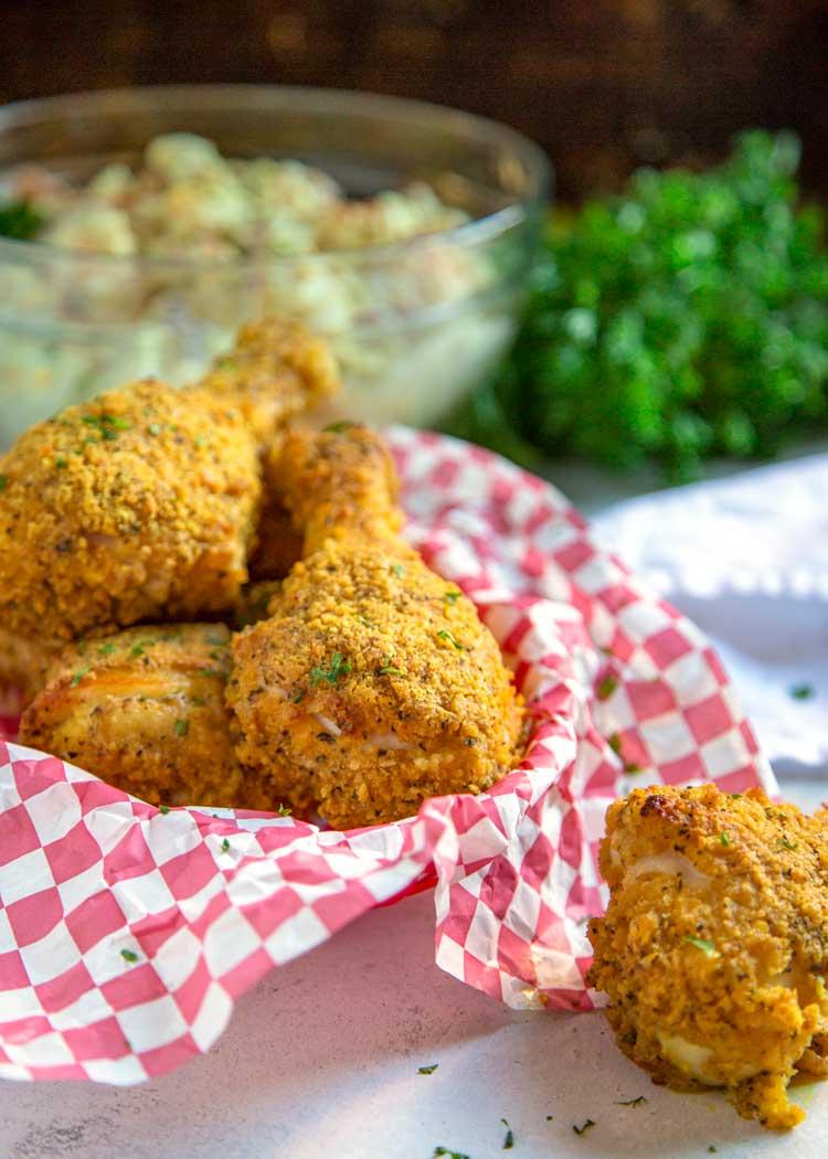 cesta de My Oven Fried Chicken es un Copycat de KFC