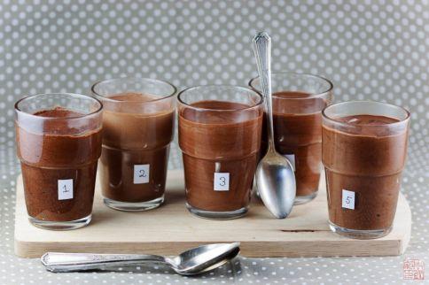 alineación de mousse de chocolate