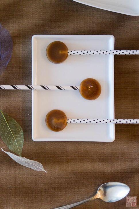pumpkin paletas de caramelo de especias