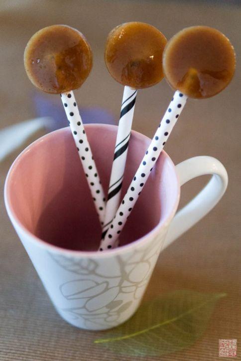 caramelo de especias de calabaza lollipops