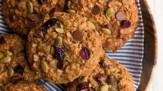 Cookies de avena con calabaza