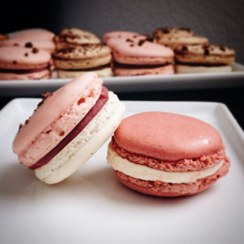 rose lychich macarons sf cooking