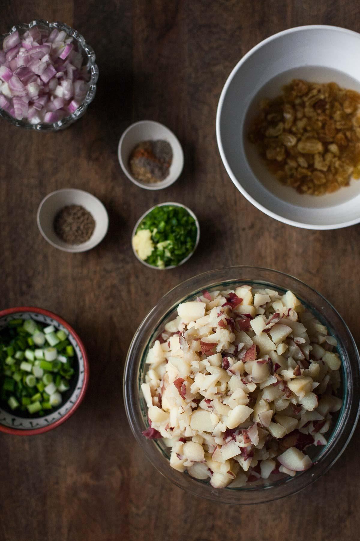 Ingredientes para Paleo Samosa Bites | acalculatedwhisk.com