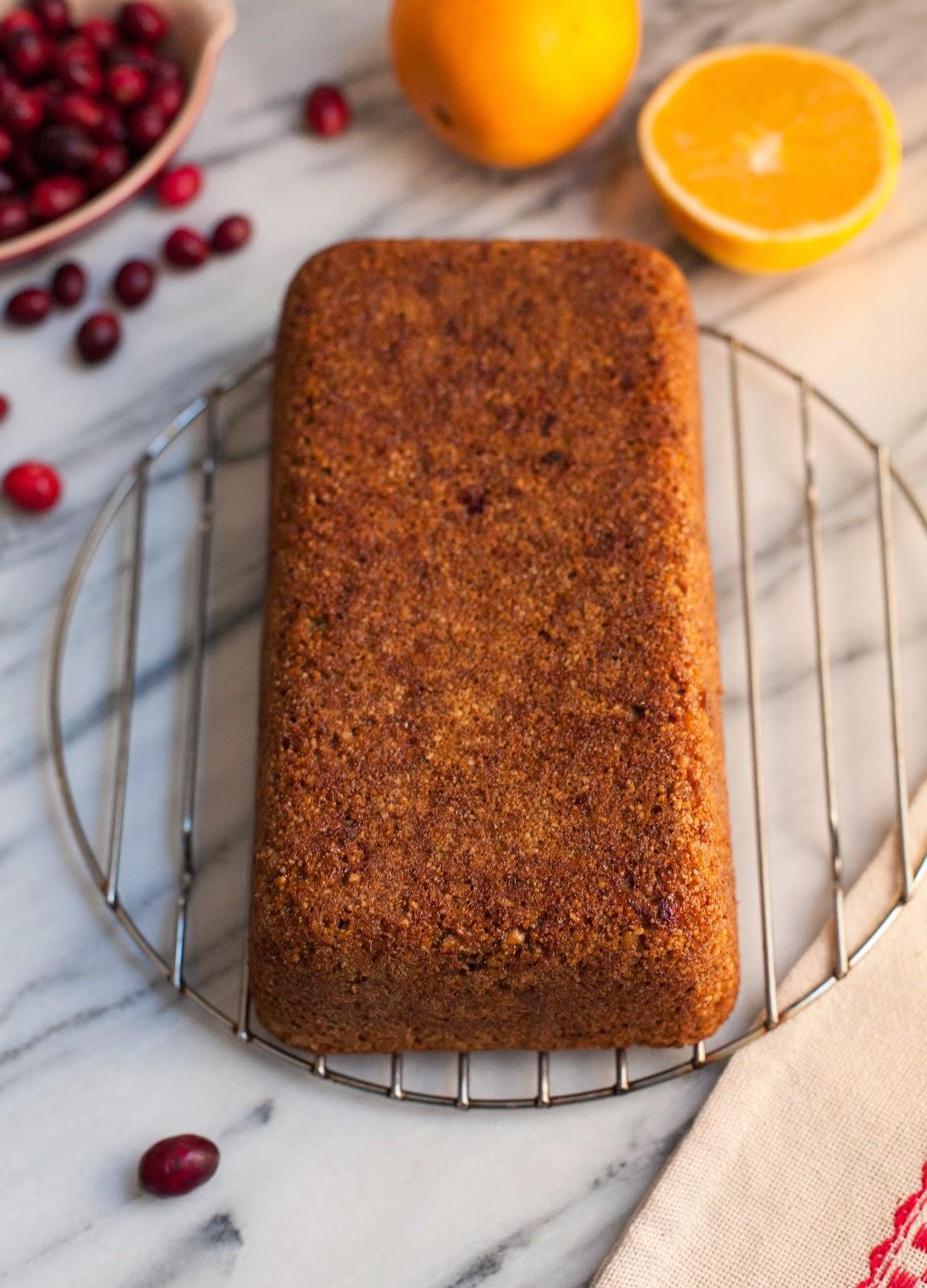 Pan de naranja y arándano sin grano
