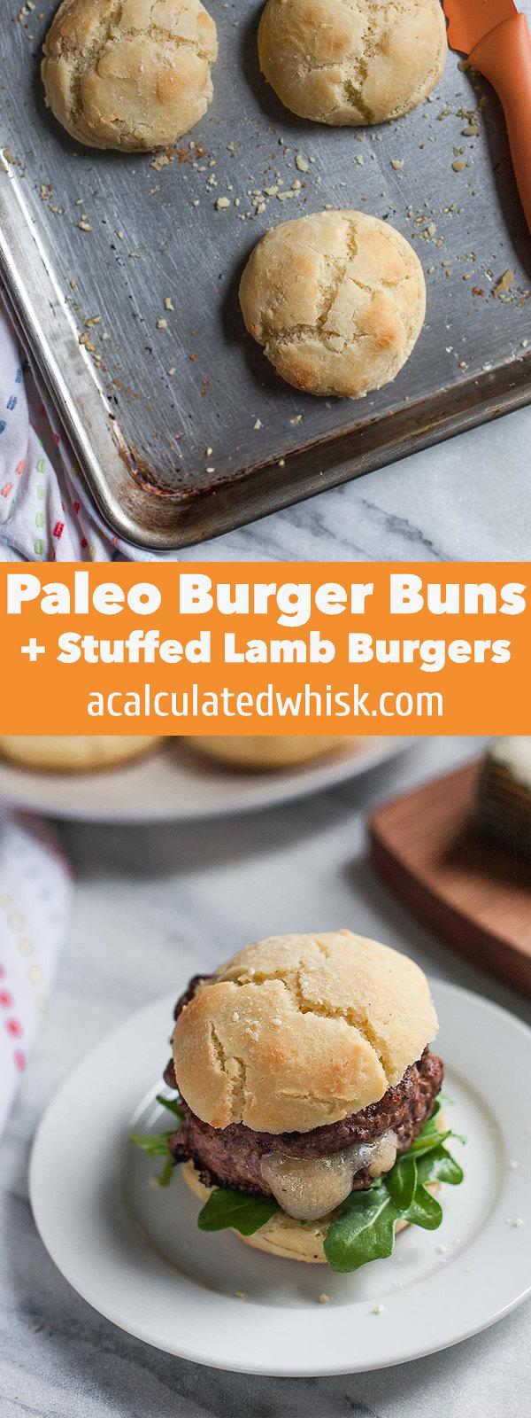 Hamburguesas de Cordero Rellenas + Paleo Burger Buns