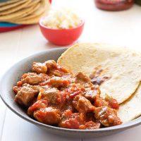 Estofado De Cerdo Mexicano (Carne De Puerco En Salsa Roja)
