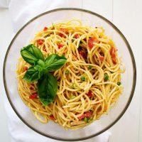 Ensalada De Espagueti Con Aderezo Italiano