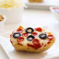 Patatas Al Horno De Pizza