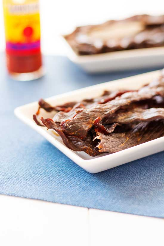 Homemade Oven Beef Jerky, no special equipment needed! Two beef jerky marinade recipes included!