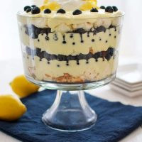 Trifle De Arándanos De Limón