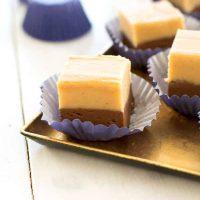 Mantequilla de maní con chocolate Fudge