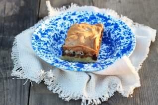 Pan de deliciosas barras de calabacín de caramelo