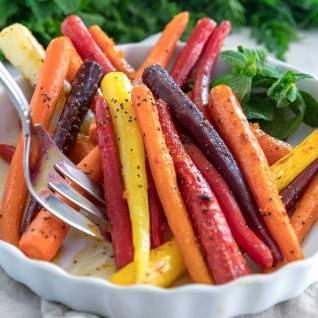 Zanahorias Cítricas Asadas De Miel