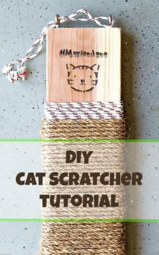 Scratcher de gato DIY