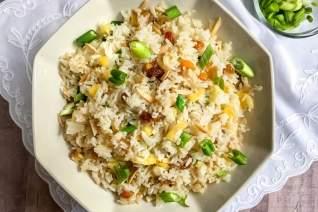 Una tradición favorita: Instant Pot Fruited Rice Pilaf