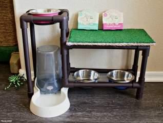 Stand de comida para gatos DIY