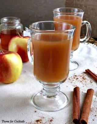 Sidra de manzana con whiskey de miel