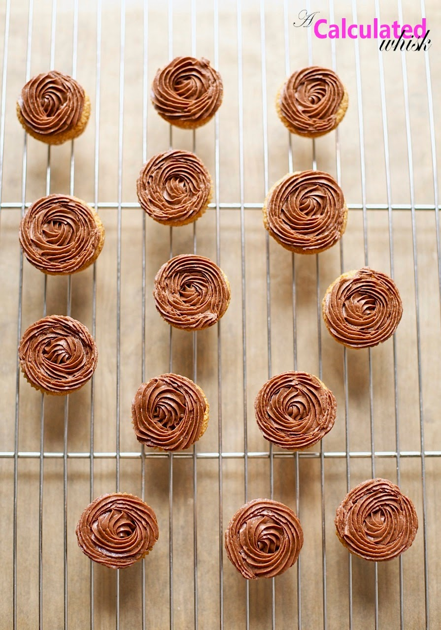 Easy Vanilla Cupcakes with Chocolate Frosting (Gluten-free, Grain-free)