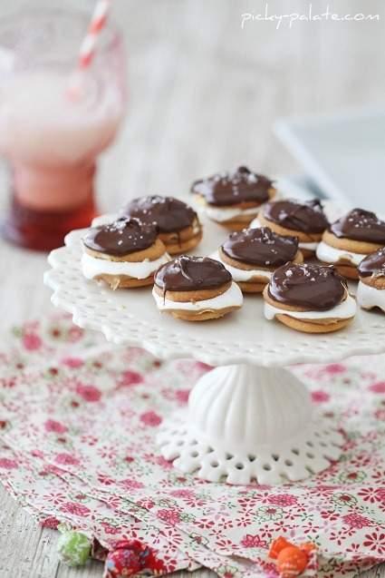 Fluffers cubiertos de chocolate salado Obleas de nutter