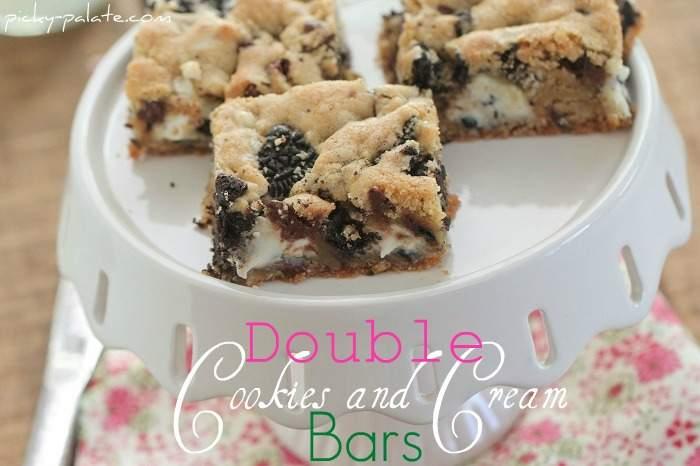 Galletas dobles y barras de galletas de crema de beso