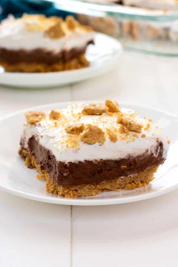 Chocolate cream pie meets cheesecake in this chocolate cheesecake pudding dessert. Everyone will love this no-bake layered delight!
