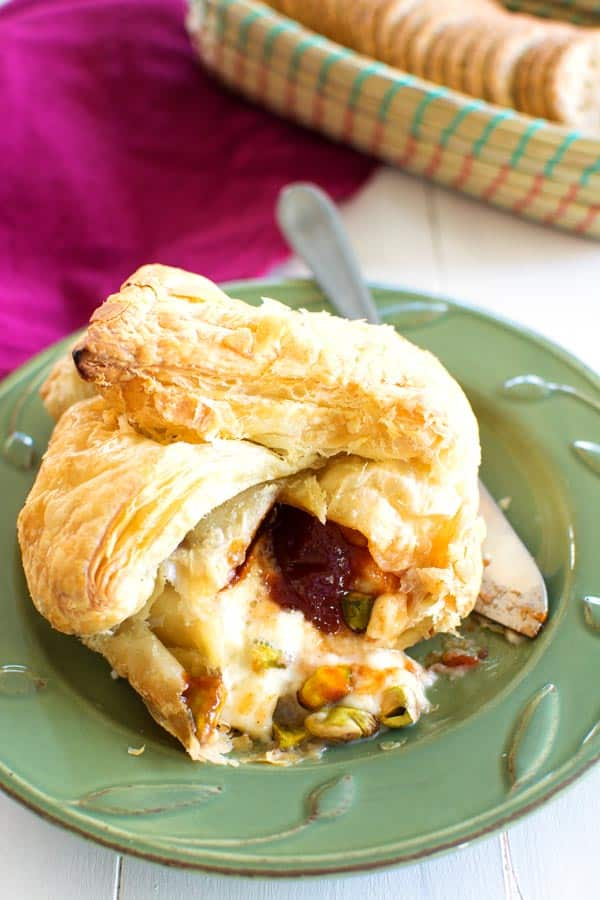 Classic French appetizer meets sweet tropical treat! You'll be the toast of the party with this puff pastry baked Brie Cheese with Guava!
