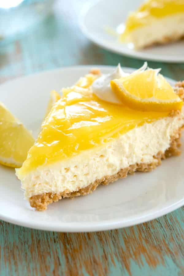 Lemon cream cheese pie - this no bake dessert was so easy to make and I didn