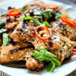 Pollo a la parrilla tailandés. Www.keviniscooking.com