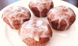 Zucchini Muffins with Lemon Glaze