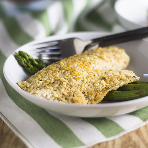 Gluten Free Parmesan Crusted Tilapia