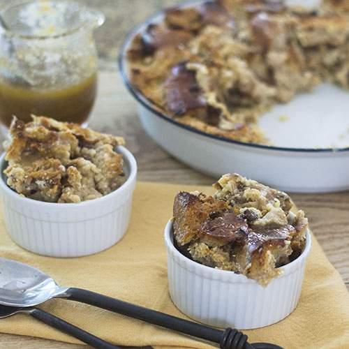 Cinnamon Raisin BAGEL Bread Pudding #dessert #promotion #bagels