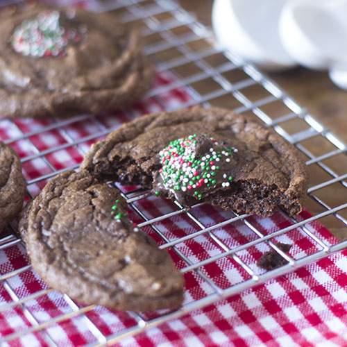 Galletas de chocolate sin gluten para las fiestas