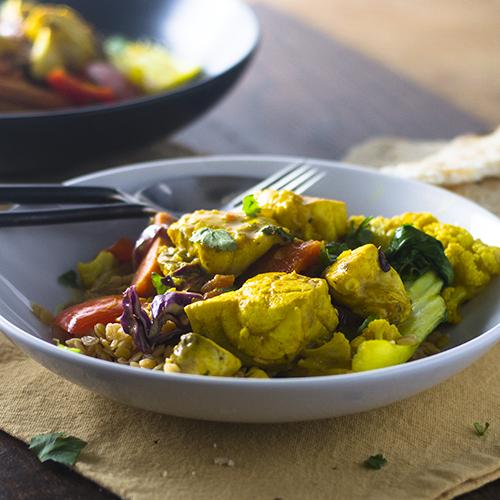 Pollo al curry - alimenta tu alma también