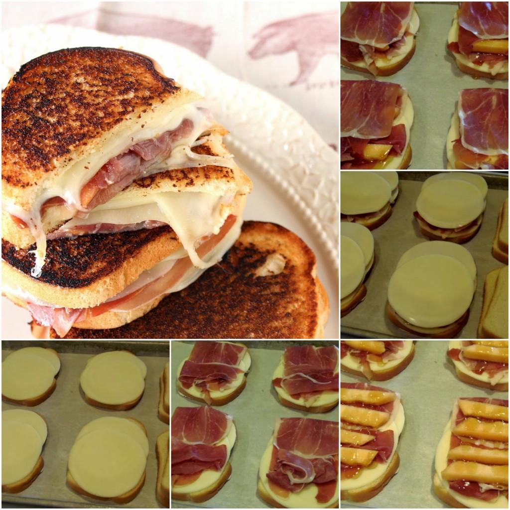 Sándwiches de queso a la parrilla con jamón, melón y provolone - kudoskitchenbyrenee.com
