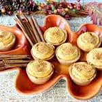 Tartaletas De Pastel De Calabaza Con Corteza De Galletas
