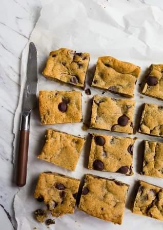Barras de galleta con chispas de chocolat