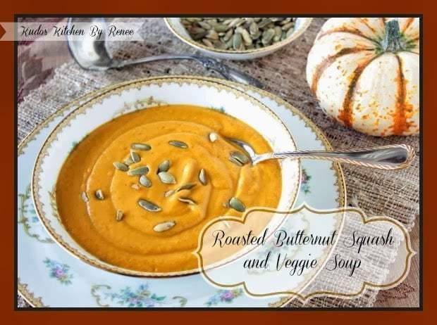 Receta de sopa de calabaza y verduras asadas