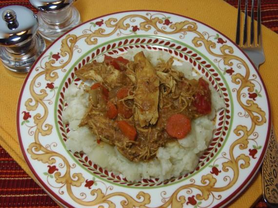 Receta de curry de pollo al coco de cocción lenta