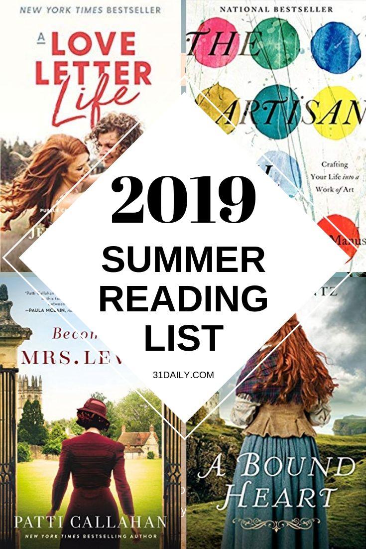 Pinterest Pin: 2019 Lista de lectura de verano