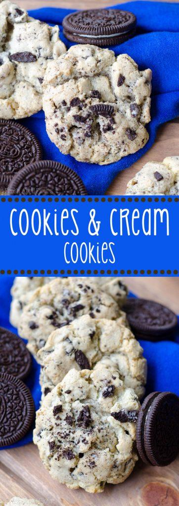 Galletas y Galletas Crema: galletas de azúcar sencillas y básicas rellenas de Oreos picados. Ideal para vacaciones Oreos multicolor.