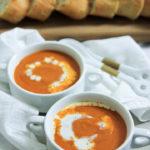 Sopa De Tomate Con Ajo Asado