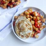 Hash de patata dulce