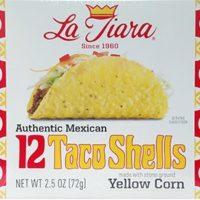 Conchas de taco La Tiara, caja de 12 unidades (dos cajas), 2.5 oz